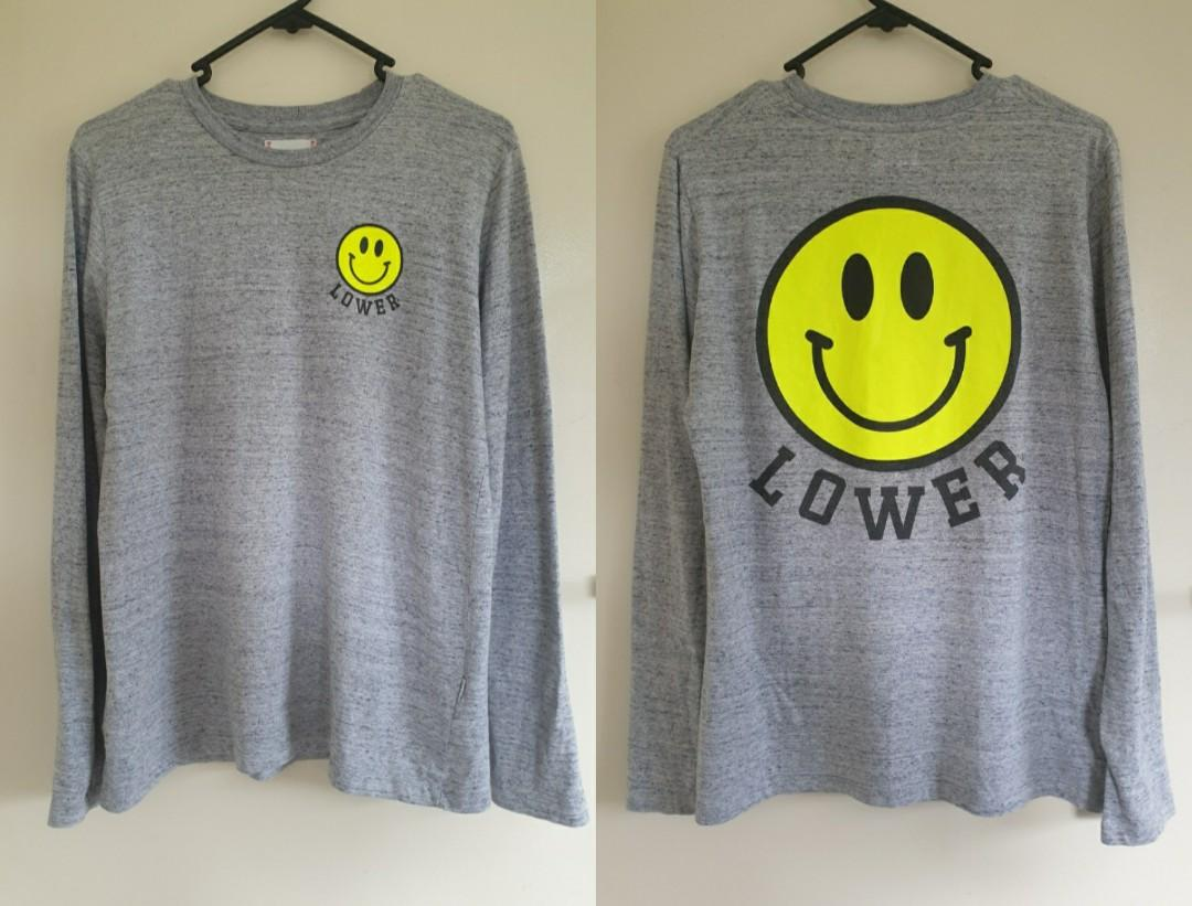 Lower grey smiley face top