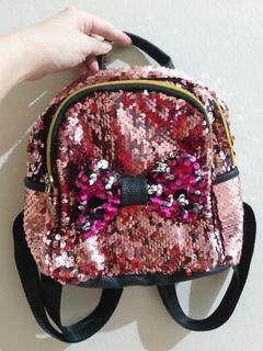 Sequin bag pink