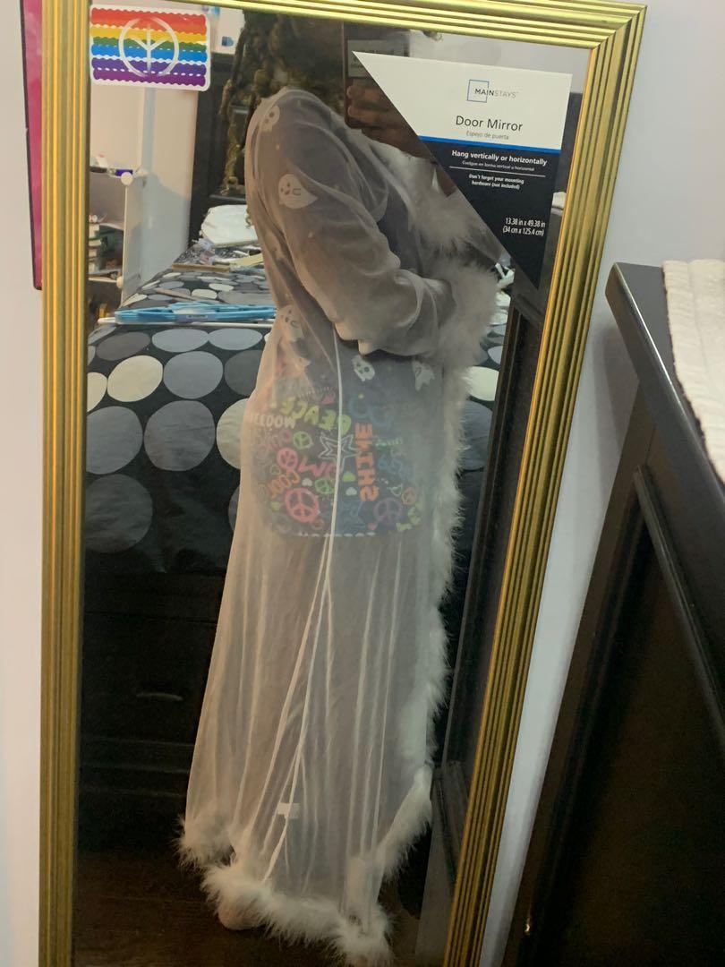 SHEIN White Fur Robe