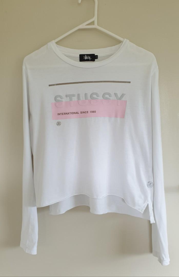 Stussy white top