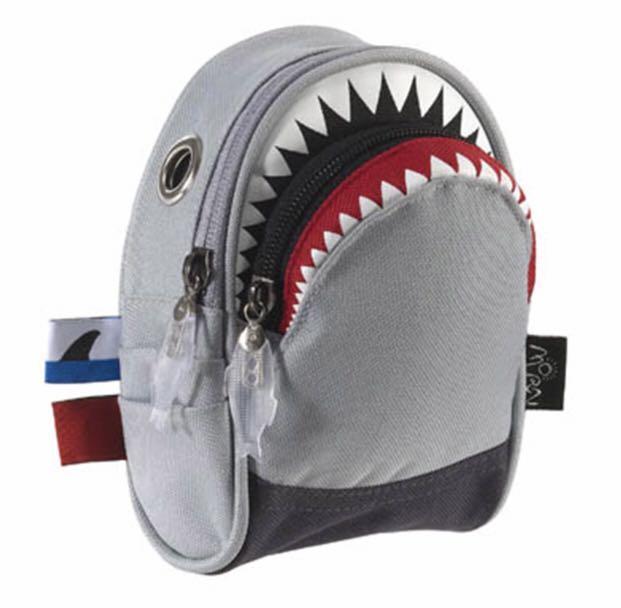 🍎香港🇭🇰設計廊鲨魚小腰包(灰色帆布)