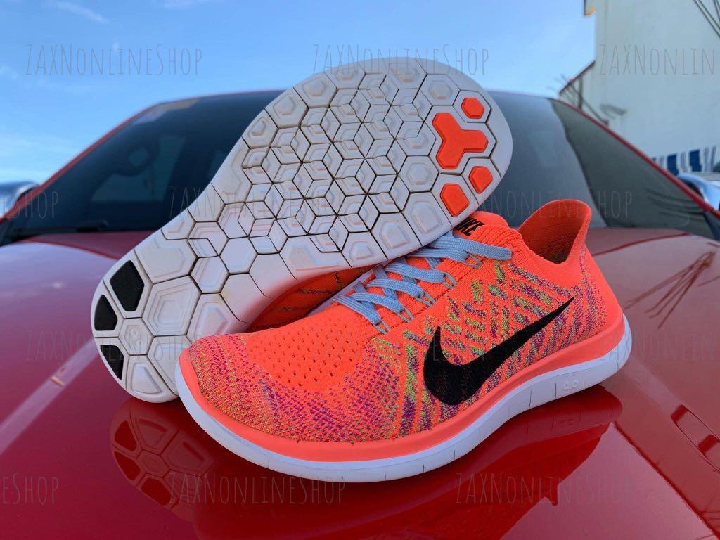 sábado pacífico Matemático  Authentic Nike Free 4.0 Flyknit Hot Lava size 7.5 WOs, Women's Fashion,  Shoes, Sneakers on Carousell