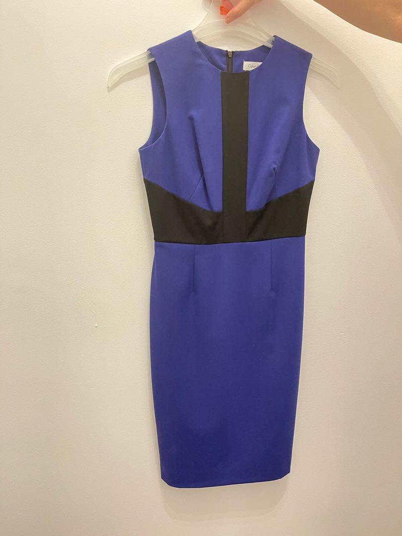 Calvin Klein Blue Business Casual Dress