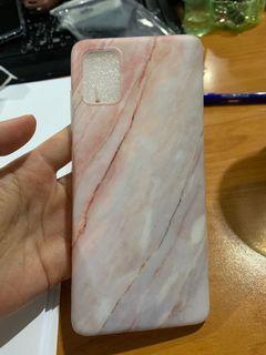 Case Samsung A51 Motif Marmer Pink Grey
