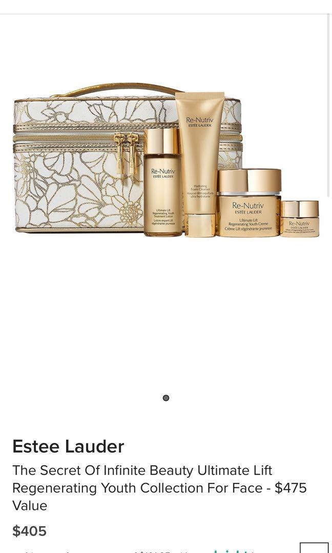 Estee Lauder The Secret Of Infinite Beauty Ultimate Lift Regenerating Youth Collection For Face - $475 Value