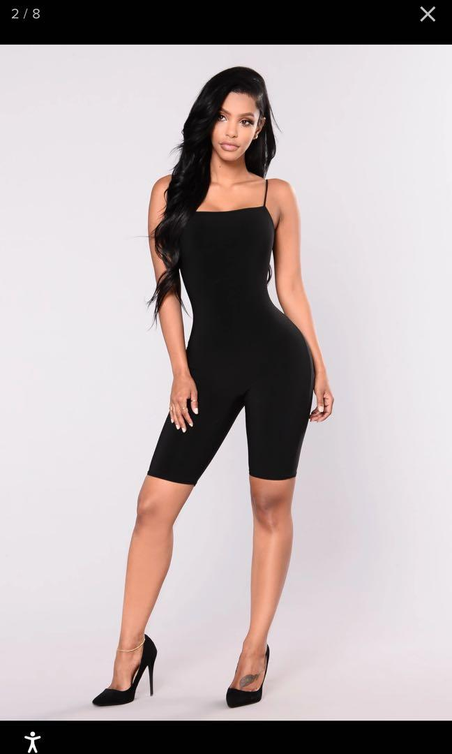 Fashion Nova Aries Cropped Jumpsuit - Black