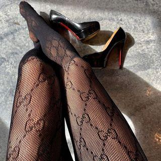 Gucci black and white tights / pantyhose