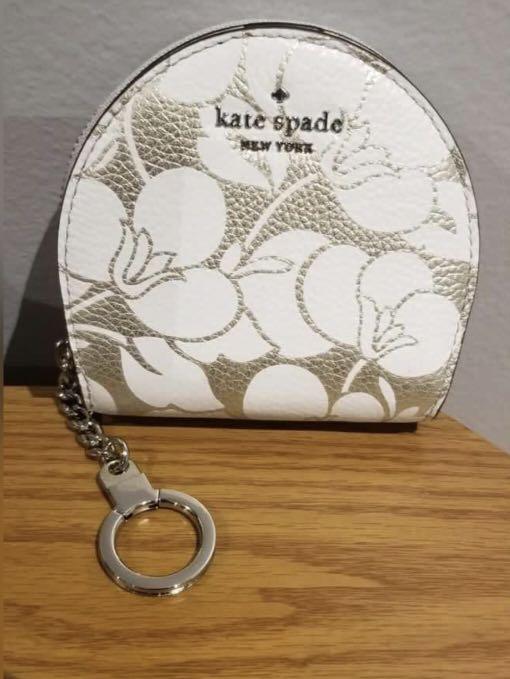 Kate Spade Sari Larchmont Ave Breezy Floral Wallet Coin Key Chain