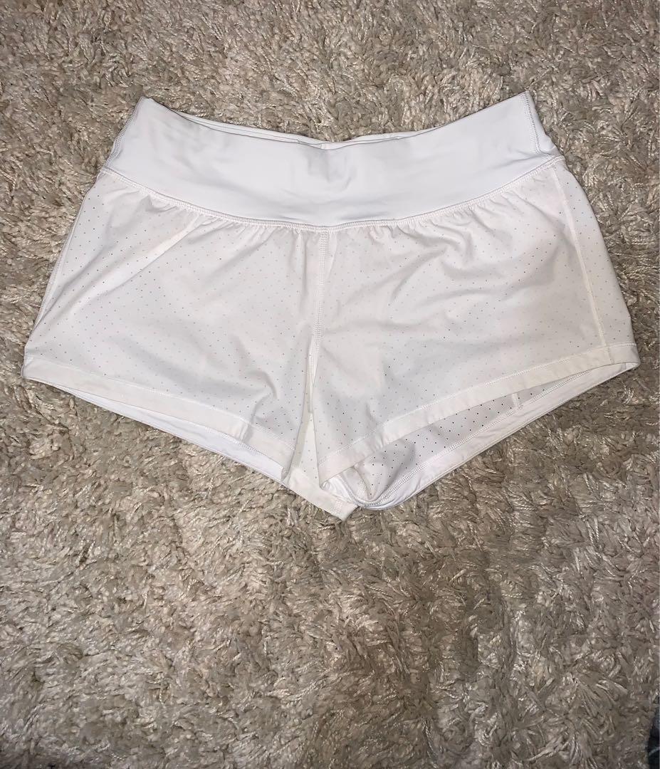 Lululemon size 8 white shorts