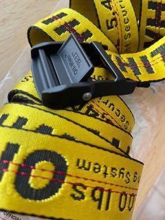 Off-White Classic yellow industrial belt