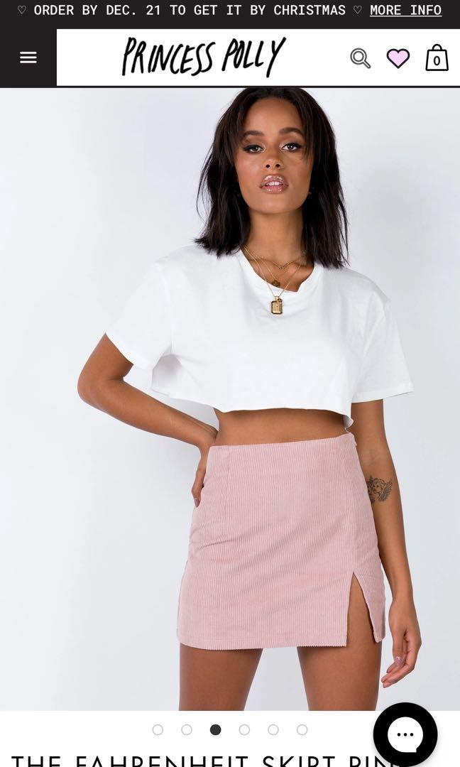 Pink Farenheit skirt - Princess Polly