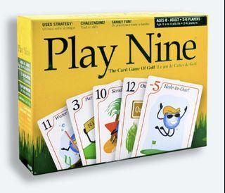 PLAY NINE Golf Card Game