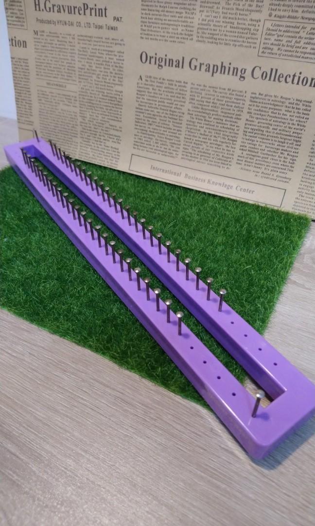 PP 塑膠 釘板 圍巾 編織