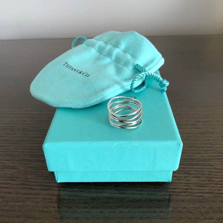 Tiffany & Co Elsa Peretti Wave Five Row Ring