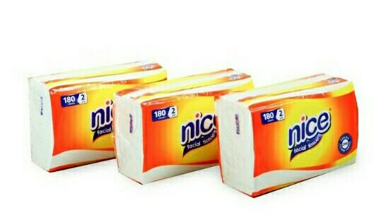 Tissue Nice 180 Sheets 2ply (3pcs)