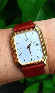 "Vintage Citizen ""Tank"" Homage Dress Watch Not Cartier, Seiko, Orient, Bulova, Rado, Tissot"