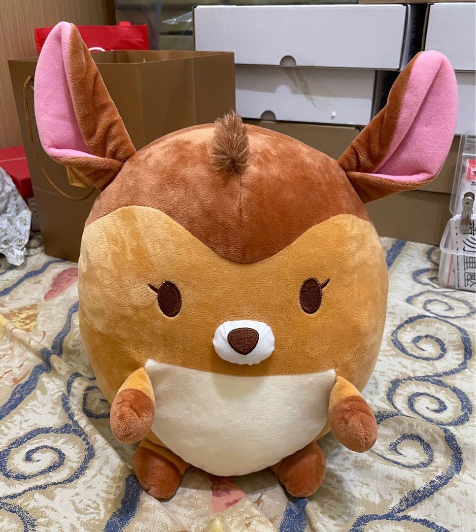 🈹清倉庫 ✔️只有1隻 🖤私物 🎶正版 🎌JP 日本 Disney 迪士尼 ufufy 古著 日系 小鹿斑比 栗色 圓圓抱枕 玩偶 雲朵娃娃