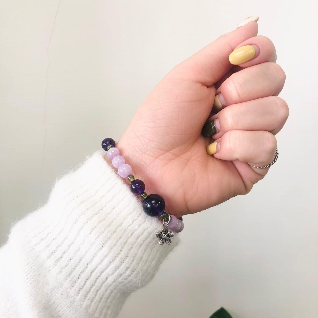 紫錐花#孔賽石#紫水晶