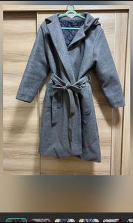 🇰🇷韓國連線 🧥長版落肩大衣外套 灰色 歐膩風