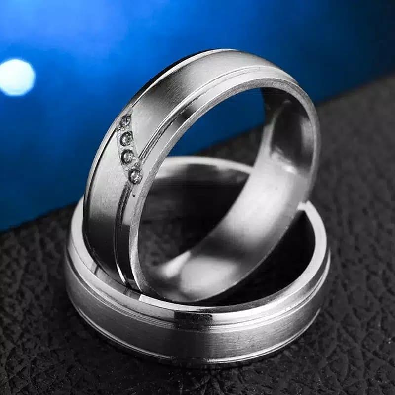Cincin Couple Wedding Silver