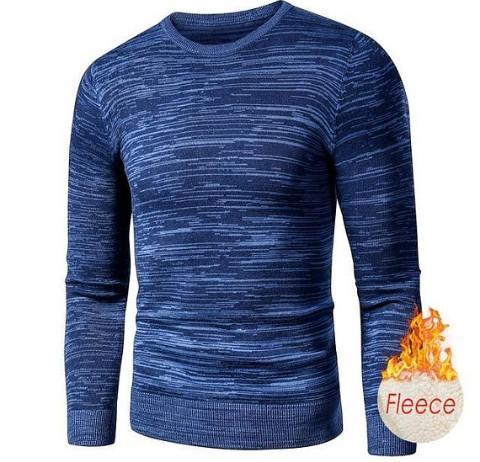 Mens Casual Fleece Sweater Pullover Cardigan Multicolor