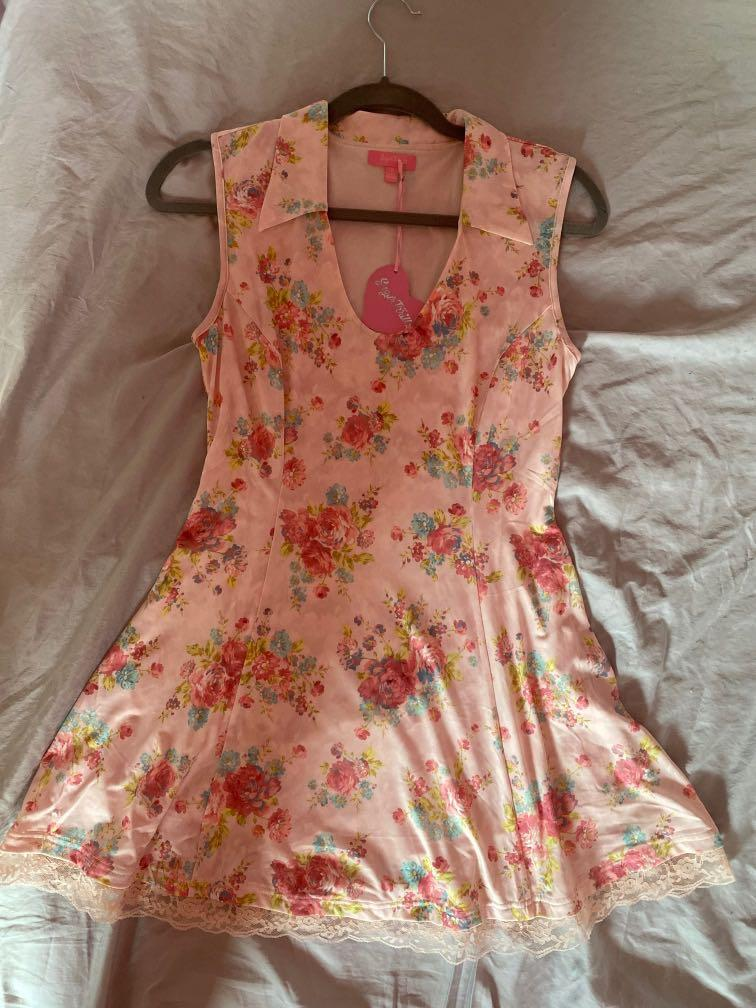 Pink Floral Dress Sugarthrillz