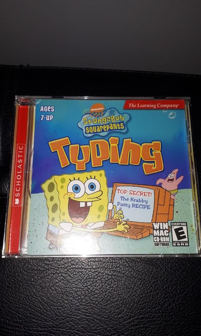 Spongebob Squarepants Typing Lessons Game CD For Kids