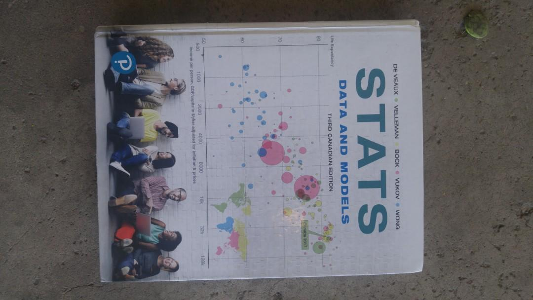 Stats Data and Models 3rd edition brand new hardcover
