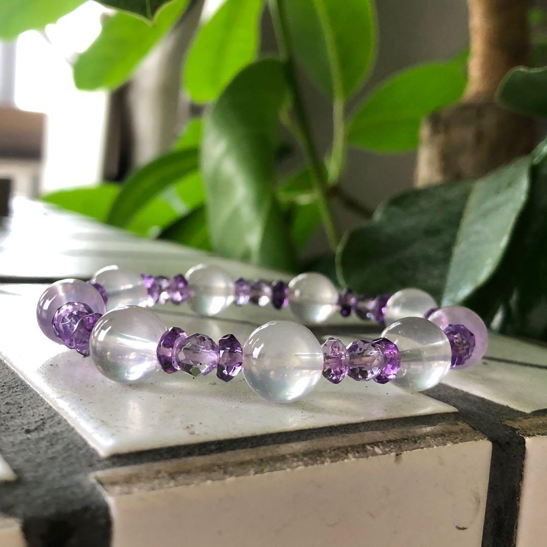🟣小繡球🟣#粉晶#紫水晶