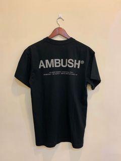 Ambush XL logo 反光 黑色 短tee 全新正品 1號