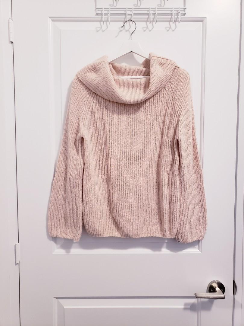 Saks Fifth Avenue - Pink Bell Sleeve Sweater - Size S