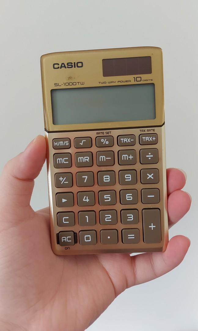 卡西歐CASIO太陽能小型隨身計算機