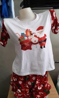 Christmas Terno top and skirt