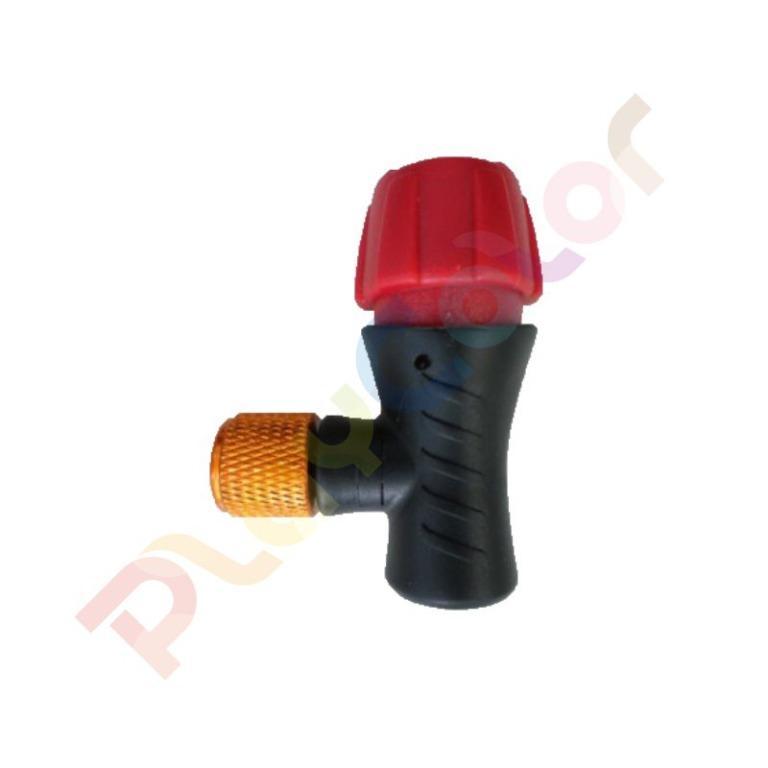 【單獨接頭】CO2 美法雙用 快速充氣 打氣接頭 CO2高壓打氣瓶 CO2有牙鋼瓶16g帶牙充氣瓶【K2322】