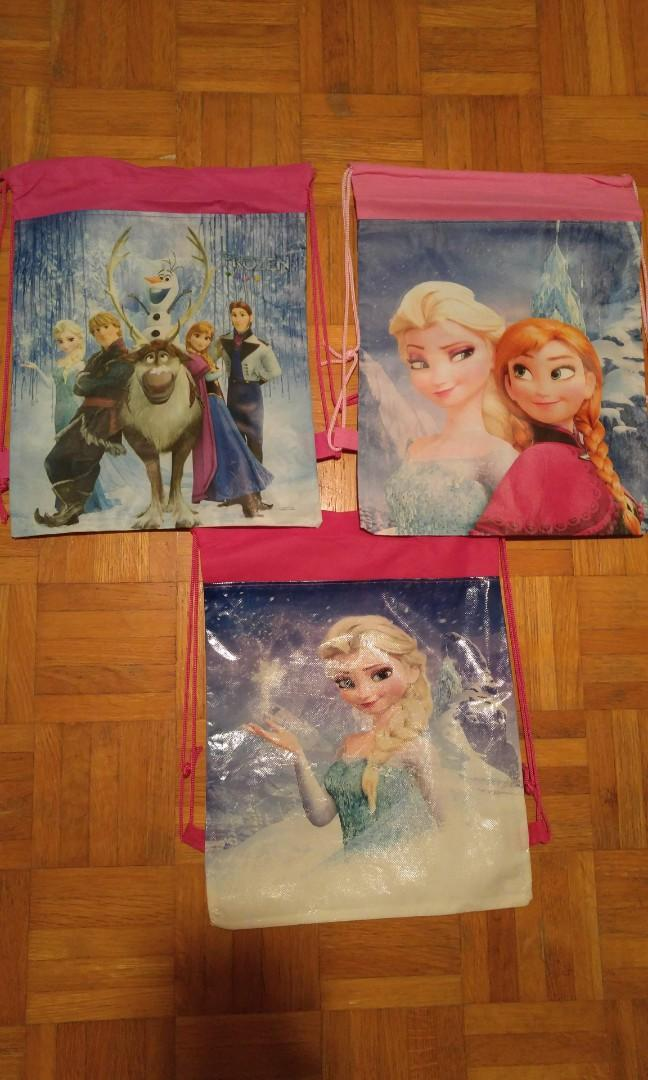 Disney Frozen Drawstring Backpacks