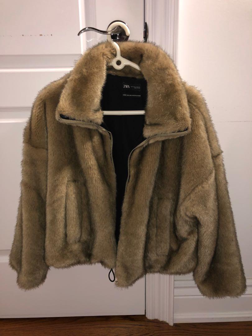 Faux Fur Jacket Zara