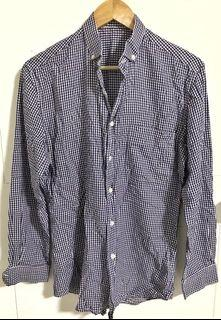 Grey Checkered Longsleeves Button Shirt
