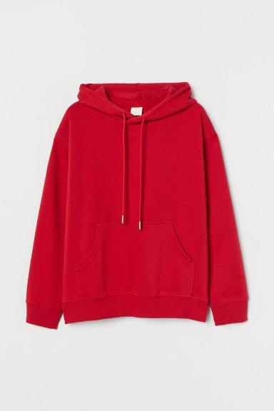 H&M bright red hoodie size large