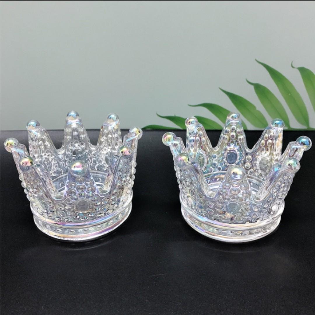 Iridescent Crown Beauty/Jewelry Holder