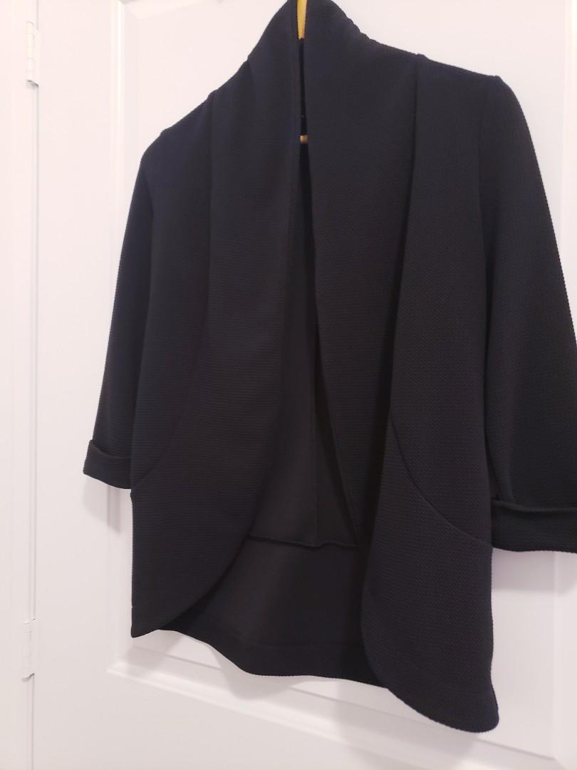 Mendocino Black Open Front Blazer - Size S