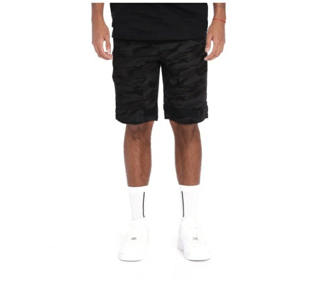 Men's CHAMPS Black Camo Shorts