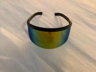 Nopeet Style Irridescent Rainbow Visor Eye Shield Face Shield