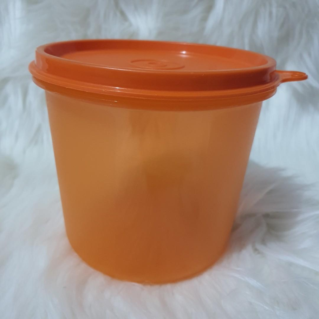 Preloved Toples Tupperware 650 ml Orange