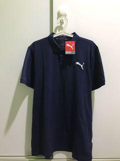 Puma polo shirt navy blue size L