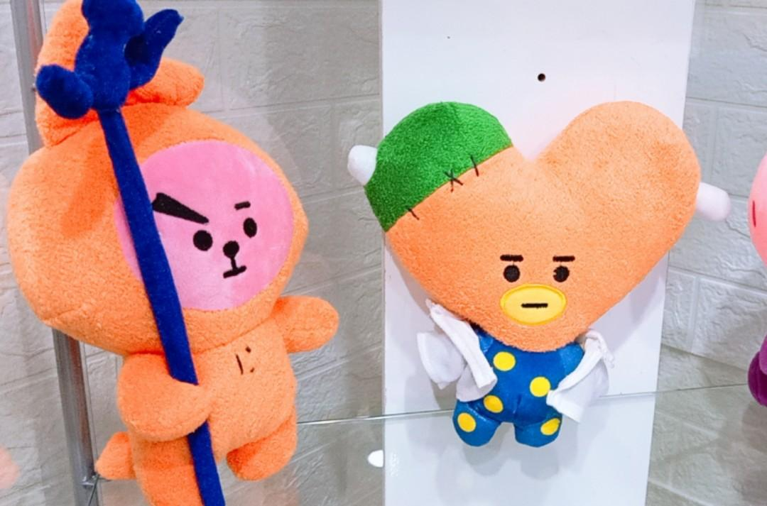 Ready Stock Boneka BT21 Halloween Cooky Tata Standing Doll Plush