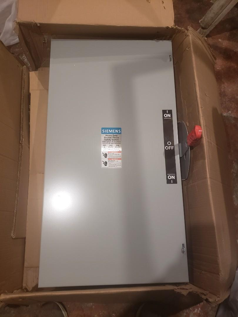 siemens heavy duty double throw safety switch