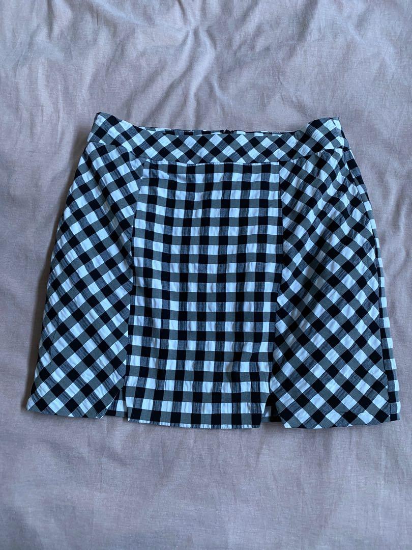 Top shop checkered skirt