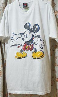 Tshirt Mickey kasut kuning