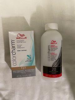 Wella T27 Toner + Cream Developer 20