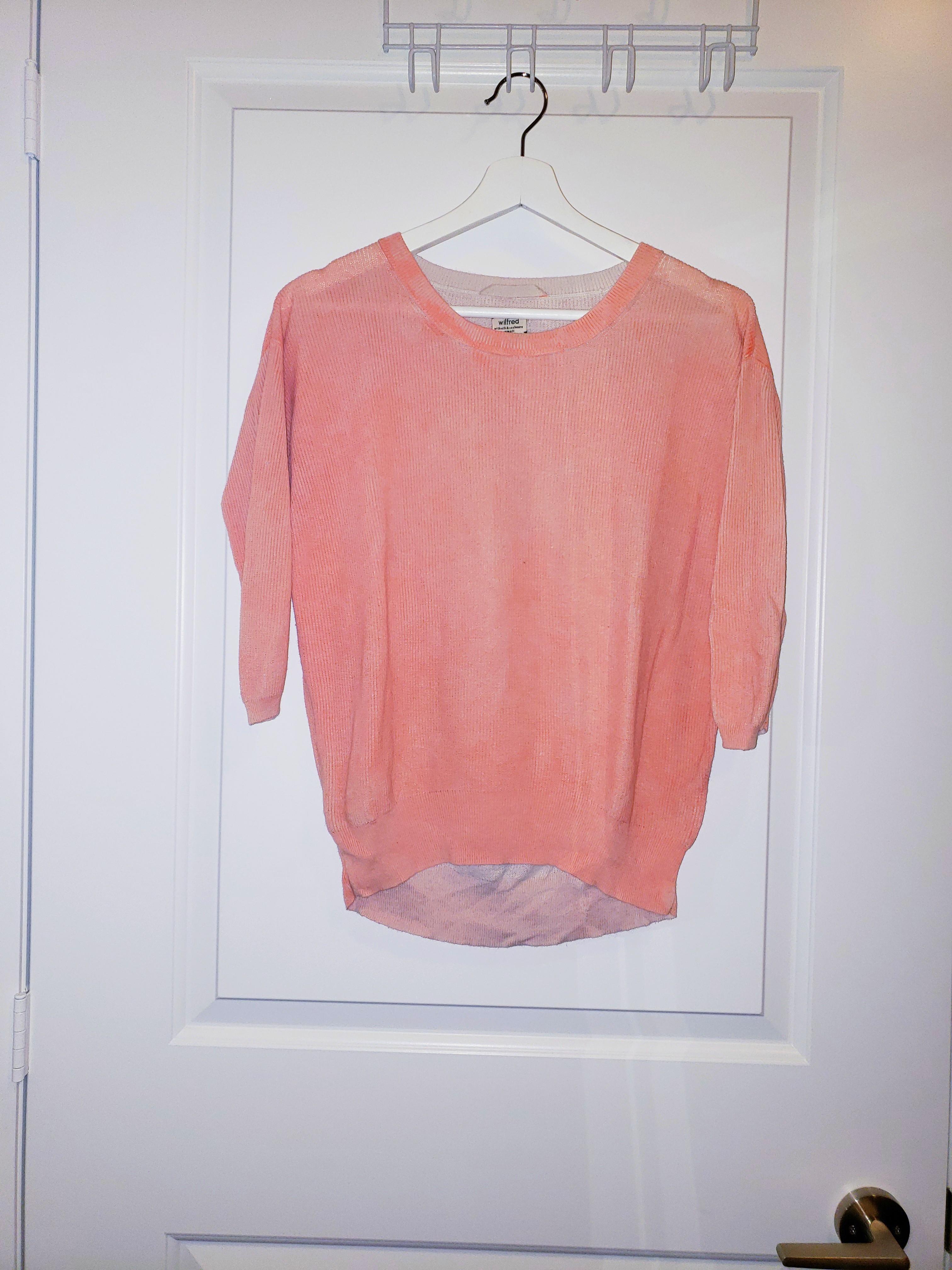 Wilfred Peach Silk Top - Size S